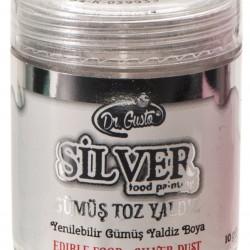 Dr Gusto Yenilebilir Yaldızlı Sim Boya Gümüş 10 gr
