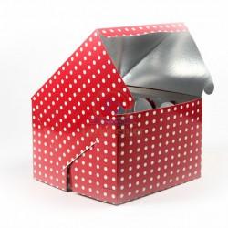 Kırmızı Puantiyeli Kurabiye Kutu 35*35 Cm 5 Adet