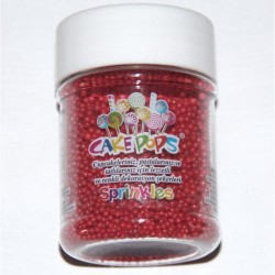 Dr Gusto - Cakepops Şeker Kırmızı 45 gr-2mm