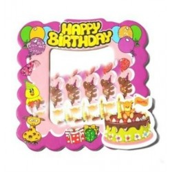 Happy Birthday Magnet Pembe