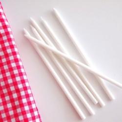 Uzun Simli Beyaz Mum 6'lı