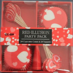 Cupcake Kırmızı Kalp
