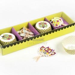 Cupcake Baykuş Set
