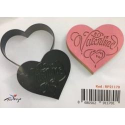 Kurabiye Kesici & Damga Set (Valentine)