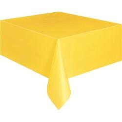 Sarı Plastik Masa Örtüsü 120*180 Cm